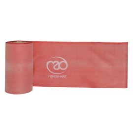 FITNESS MAD Resistance Band Roll Studio 15 meter x 15 cm Level 1 Light Latex Red