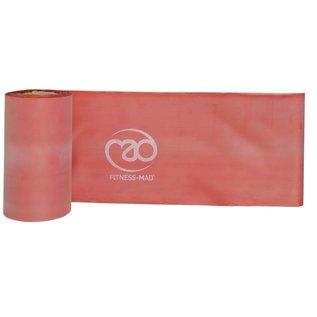 FITNESS MAD Resistance Band Roll Studio 15 meter x 15 cm Level 1 Light Latex Rood