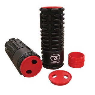 FITNESS MAD Fitness Mad Foam Roller 64cm Double massage foamrollers 2x32cm Zwart 2-in-1 triggerpoint 15cm ABS EVA
