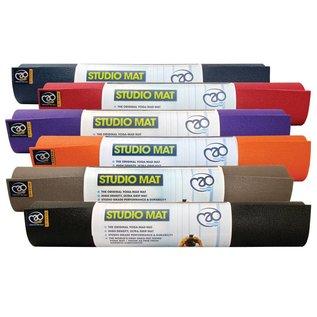 FITNESS MAD Studio Pro Yoga Mat 183 x 60 x 0.45cm (1.6kg) Oeko-tex huidvriendelijk high density yoga mat made in Germany phthalate free brandvertragend grijs Blauw