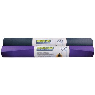 FITNESS MAD Studio Pro Wide Yoga Mat 183 x 80 x 0.45cm (2.0kg) Oeko-tex huidvriendelijk extra breed high density made in Germany phthalate vrij brandvertragend grijs Blauw
