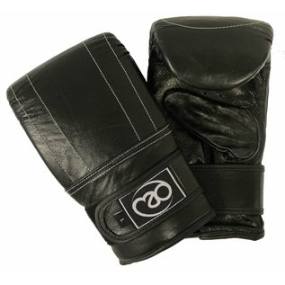 FITNESS MAD Leather Pro Bag Mitt Size L (Large) Black