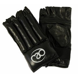 FITNESS MAD Leather Fingerless Bag Glove size L (Large) Black
