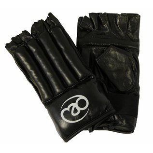 FITNESS MAD Leather Fingerless Bag Glove size M (Medium) Black