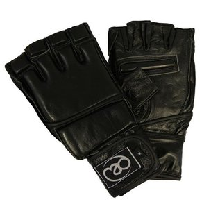 FITNESS MAD Pro Leather Free fight MMA Grappling Gloves maat XL (Extra large) Zwart
