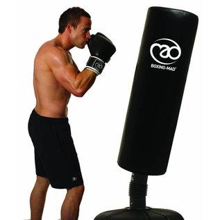 FITNESS MAD Staande bokszak 170cm (punch bag 110 x 35 cm) inhoud voet 100L voor water of grind Zwart