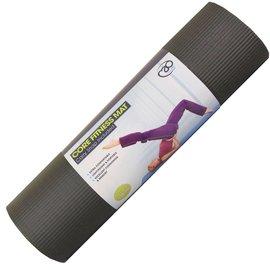 FITNESS MAD Fitness Mad Yoga Mat Fitnessmat dik 1cm 182x58cm Zwart