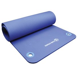 FITNESS MAD Studio Core Fitness Plus Mat Eyelets 182 x 58 x 1 cm (1.1kg) NBR Blue