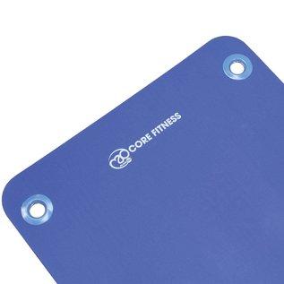 FITNESS MAD Studio Core Fitness Plus Mat Eyelets 182 x 58 x 1.5 cm (1.65kg) NBR Blue
