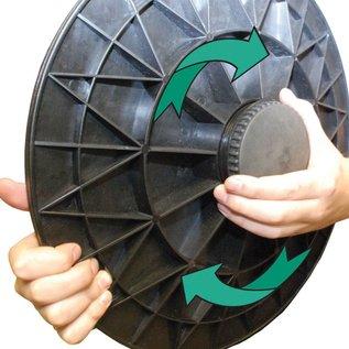 FITNESS MAD Balance Board 40 cm (0,85 kg) Verstelbaar 19-23 graden Zwart