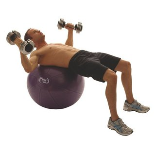 FITNESS MAD Studio Pro anti-burst 500Kg Swiss Gym Ball 65cm (1.7kg) with pump purple