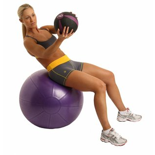 FITNESS MAD Studio Pro anti-burst 500Kg Swiss zitbal 75cm (2,1 kg) inclusief pomp lichaamslengte boven 178 cm Paars