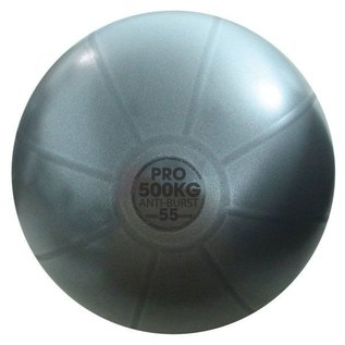 FITNESS MAD Studio Pro anti-burst 500Kg Swiss zitbal 55cm (1,3 kg) lichaamslengte tot 167 cm Antraciet