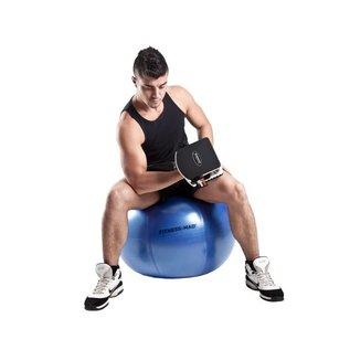 FITNESS MAD Studio Pro anti-burst 500Kg Swiss Gym Ball 65cm (1.75kg) Blue