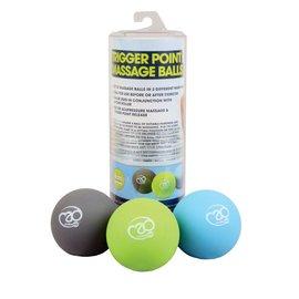 FITNESS MAD Set de 3 balles Trigger Point Massage Lacrosse