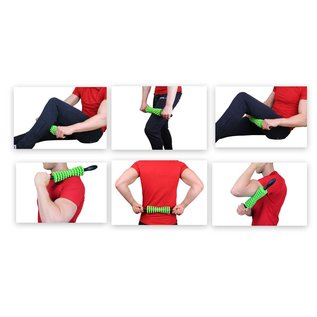 FITNESS MAD Massage stick - vari massage trigger point - green black