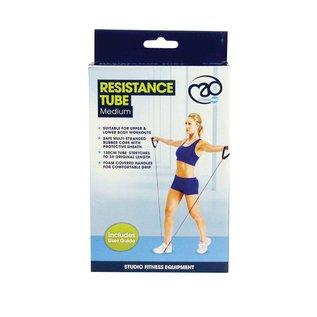 FITNESS MAD Resistance Tube Level 2 Medium 130 cm Rubber Nylon instructies Zwart Roze