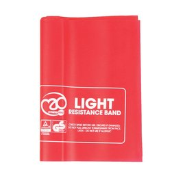 FITNESS MAD Fitness Resistance Band Light 150 x 15 cm Latex Red with Guide