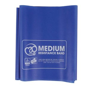 FITNESS MAD Fitness Resistance Band Medium 150x15 cm Blue with Guide Latex