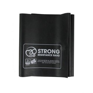 FITNESS MAD Resistance Band 150 x 15 cm inclusief instructies Level 3 Strong Latex Zwart