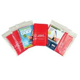 FITNESS MAD Resistance Band Studio 10 pack 150 x 15 cm Level 1 Light Latex Red