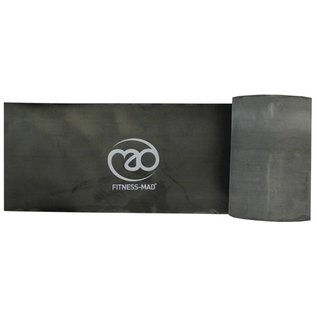 FITNESS MAD Resistance Band Roll Studio 15 meter x 15 cm Level 3 Strong Latex Zwart