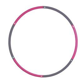 FITNESS MAD Hula Hoop 100 cm (1.1Kg) Grey Pink