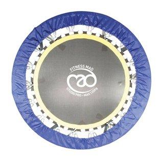 FITNESS MAD Studio Pro Trampoline Rebounder 102 x 25.4 cm (40 inch - 10kg) foldable Blue Black