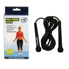 FITNESS MAD Studio Pro Speed Jump Rope 10ft 305 cm (height above 178 cm) Black