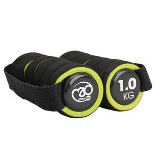 FITNESS MAD Fitness Mad Dumbbell Set 2kg 2x1kg Pro Aerobic dumbbells paar 1kg met handvat soft grip Zwart Groen