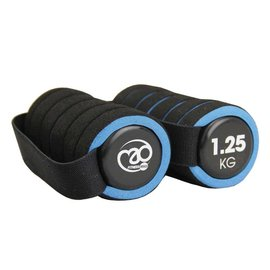 FITNESS MAD Pro Handweight Aerobic dumbbells pair 2.5 kg (2 x 1.25 kg) soft grip Black blue