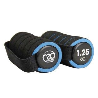FITNESS MAD Fitness Mad Dumbbell Set 2.5kg 2x1.25kg Pro Aerobic dumbbells paar met handvat soft grip Zwart Blauw