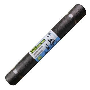 FITNESS MAD Protectie Mat 100 x 200 x 0.6 cm (2.8kg) vloerprotectie ideaal voor cross trainers Zwart