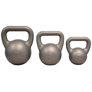 FITNESS MAD Fitness Mad Kettle Bell PVC 5.0Kg Silver Kettlebell