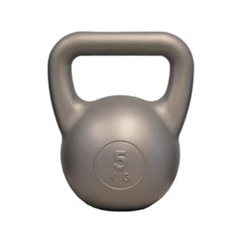 FITNESS MAD Fitness Mad Kettle Bell PVC 5.0Kg Zilver