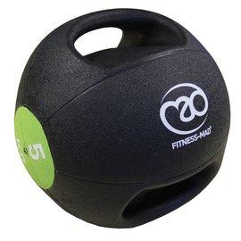 FITNESS MAD Medicine Ball Double grip uit 1 stuk gegoten Rubber 5kg Zwart