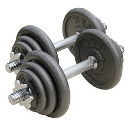 FITNESS MAD Dumbbell Set 20 kg 25.4 mm hammertone Grijs