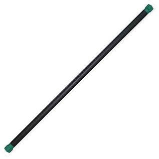FITNESS MAD Studio Pro Fitness Bar 123x3.7cm iron core metaal NBR rubber caps 4kg Groen