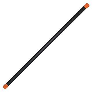 FITNESS MAD Studio Pro Fitness Bar 123x3.7cm iron core metaal NBR rubber caps 6kg Oranje
