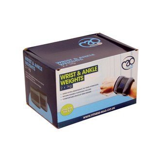 FITNESS MAD Wrist / Ankle Weights 2Kg (2x 1.0kg) pair Grey
