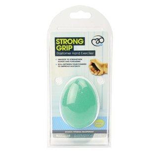 FITNESS MAD Fitness Mad Anti stressbal eivormig Level 3 Sterk Groen Handtrainer Hand Exerciser anti-stress egg Level 3 Strong