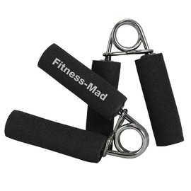 FITNESS MAD Power Grip Handgrips paar handknijper Soft Grip Zwart