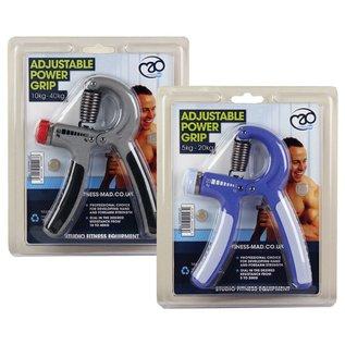 FITNESS MAD Pro Power Handgrip 10-40kg Zwaar verstelbare handknijper Grijs