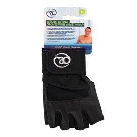 FITNESS MAD Weight Lifting Glove Pro wrist wrap Maat L Zwart
