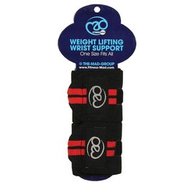 FITNESS MAD Weight lifting wrist support wrap Velcro closing 8x39cm Zwart