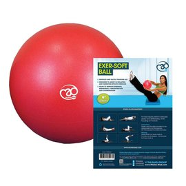 FITNESS MAD Fitness Mad Exer-Soft Ballon Pilates 23cm Gymnastique Rouge
