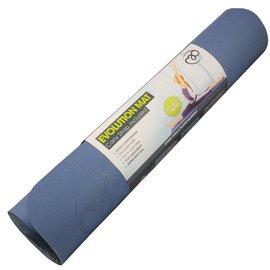 FITNESS MAD Evolution Yoga Mat Fitnessmat 4 mm draagriem Blauw Grijs