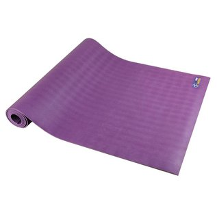 FITNESS MAD Suregrip Latex Yoga Mat Fitnessmat 183 x 60 x 0.4 cm (2 kg) super grip soft ecological made in EU Purple