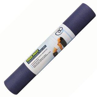 FITNESS MAD Natural Rubber Tree Yoga Mad Fitnessmat 4mm 183x60cm (2kg) super grip soft ecologische mat natuurlijk rubber en 100% katoen Grijs Blauw