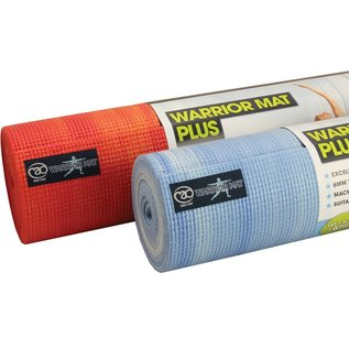 FITNESS MAD Warrior Plus Yoga Mat Sky 183 x 61 x 0.6 cm (1.6kg) extra dikke yoga mat van 6 mm ongeverfd PVC AZO en DOP vrij licht blauw